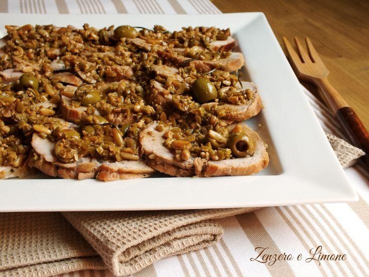 Arrosto+di+vitello+in+salsa+di+olive+verdi