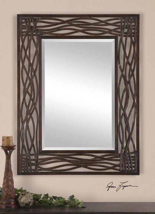 Uttermost 13707 dorigrass mirror mocha brown home decor mirrors lighting