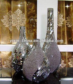 Handmade acrílicos contas espelhado mosaico de vidro vaso-imagem-Artesanato de vidro-ID do produto:533430652-portuguese.alibaba.com
