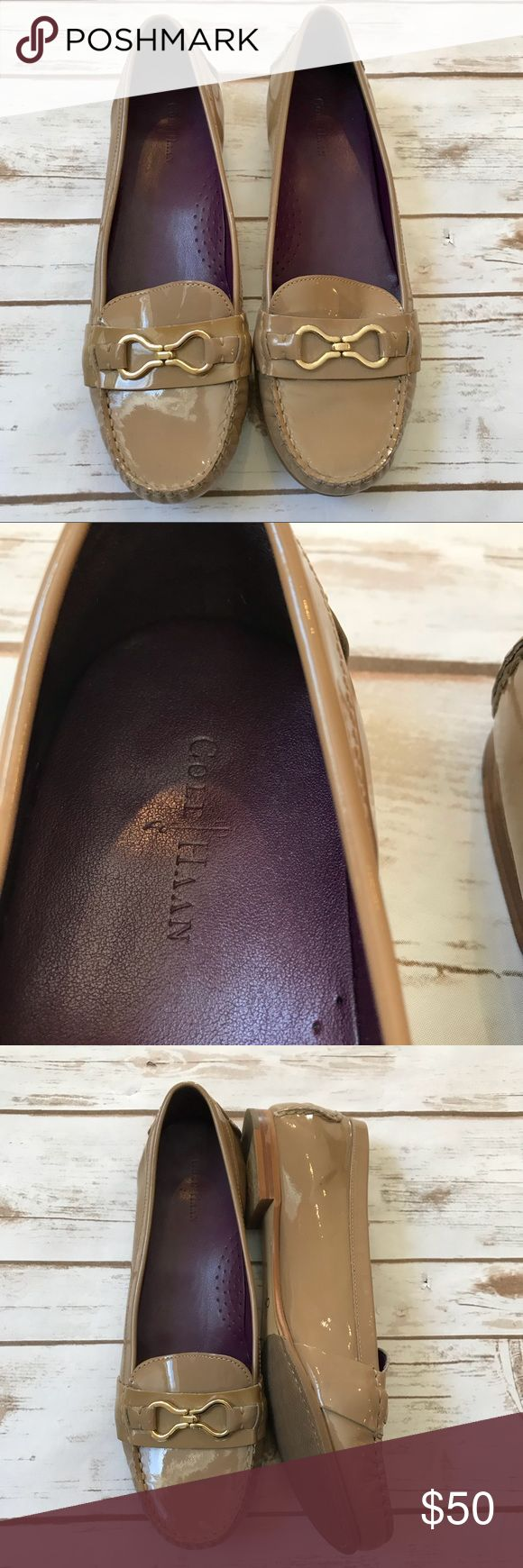 Cole Haan Marlee Infinity patent leather moccasin Cole Haan Marlee Infinity Moc II nude patent leather moccasins. Women's shoe size 11. Excellent pre-owned condition. No trades, offers welcome! Cole Haan Shoes Flats & Loafers