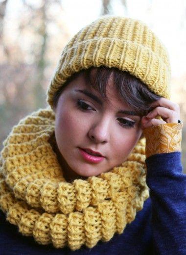 tricoter un snood femme actuelle