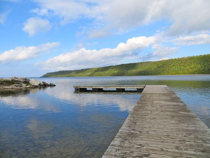 Swim dock. Rotary Beach, Gore Bay, Manitoulin Island.