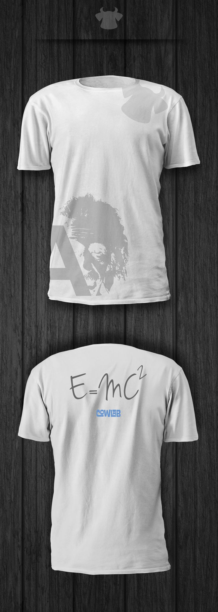 E=MC2... T-shirt dedicated to the great physicist Albert Einstein by Cowlab Studio