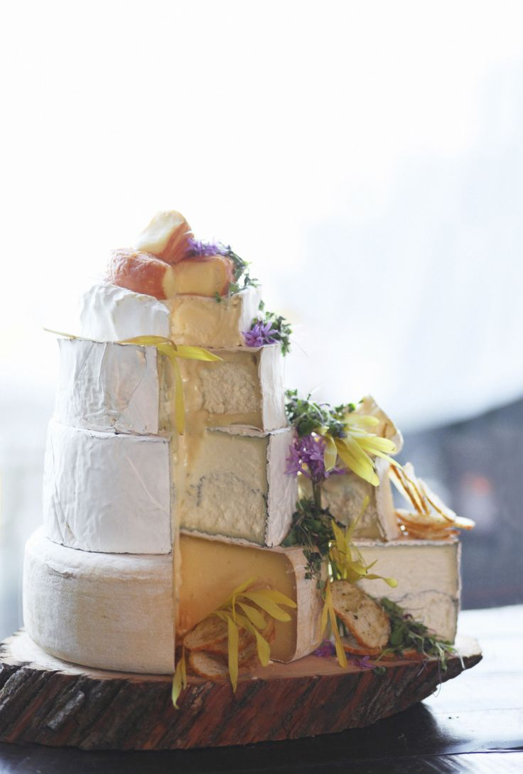 Why yes, that is a wedding cake made of cheese wheels