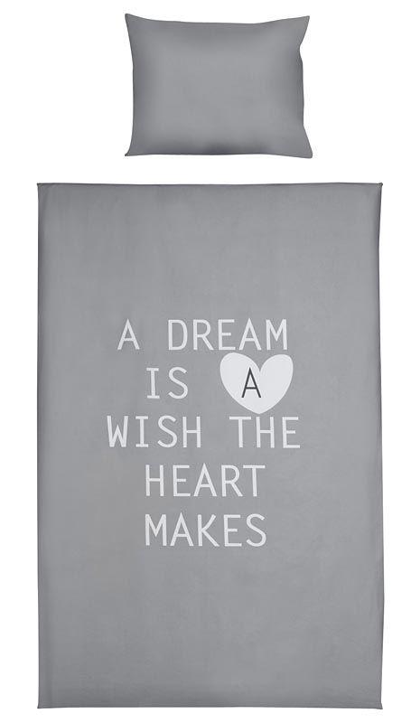 Dekbedset Eline: stoer dekbedovertrek met inspirerende tekst #words #dreams #slaapkamer