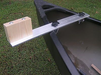Canoe trolling motor mount - Aluminum / Ash