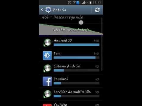 Como habilitar a porcentagem de bateria no Galaxy Win Duos/Android 4.1.2