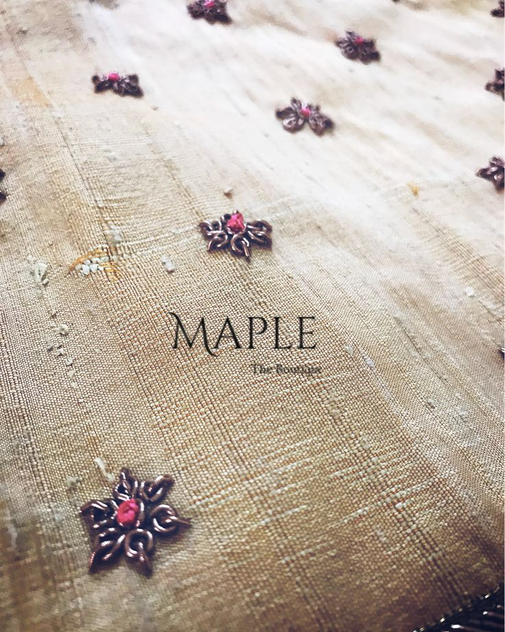 """14 Likes, 3 Comments - Maple The Boutique (@mapletheboutique) on Instagram: """"Tiny details ❤️ For customising your outfits : DM us Whatsapp to 9597196645 #tinydetails…"""""""