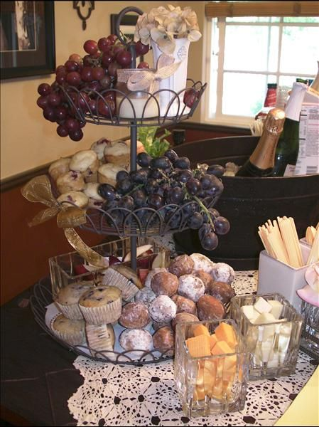 perfect stand for creating a lovely brunch using the French Wired Tiered Stand. Great idea from mystyleshare.com Stand Available at: Pamlau1.willowhouse.com
