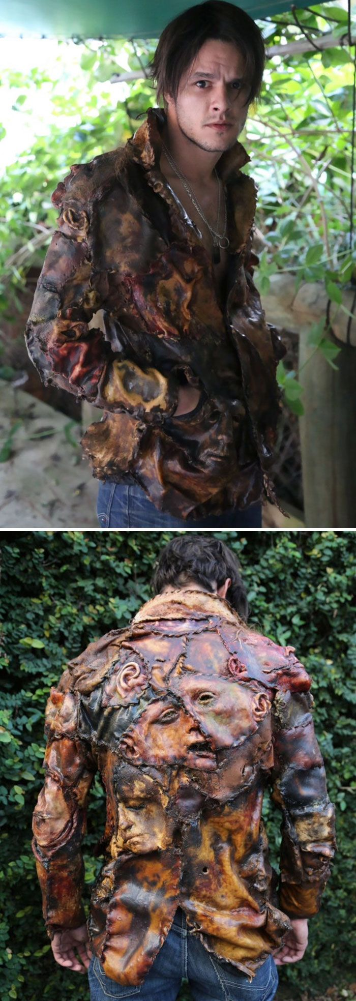 """Wear this """"jacket of souls"""" with classic Freddy gear for possibly the best, creepiest Freddy Kruger costume ever! http://www.costumebliss.com/costume_888434.html"""