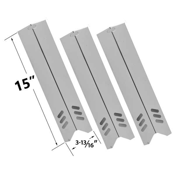 3 PACK STAINLESS STEEL HEAT PLATE REPLACEMENT FOR DYNA- GLO, UNIFLAME, BACKYARD GRILL BY12-084-029-98, BY13-101-001-12, BY13-101-001-13, GBC1255W, BHG, LOWES MODEL GRILLS Fits Compatible DYNA- GLO Models : DGF510SSP , DGF510SSP-D Read More @http://www.grillpartszone.com/shopexd.asp?id=33548&sid=36545
