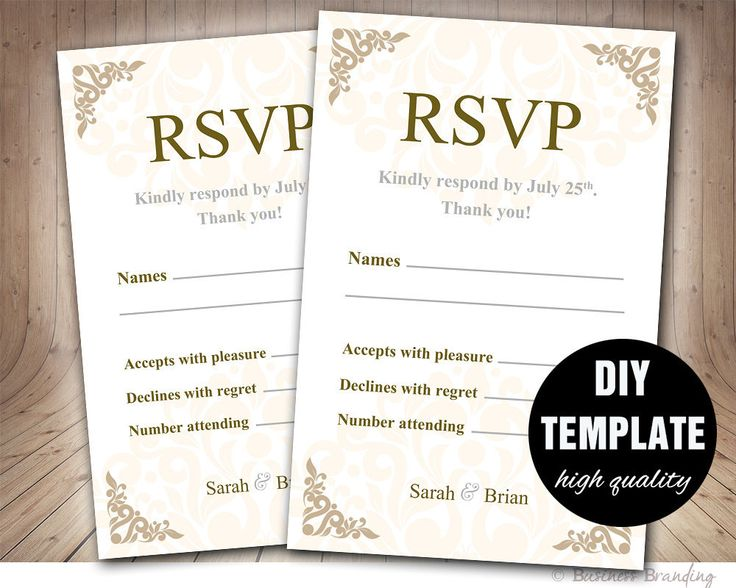 25+ cute DIY wedding rsvp cards ideas on Pinterest Wedding rsvp - party rsvp template