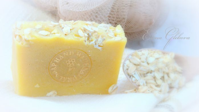 Шелковое мыло с нуля на овсяном молоке с медом