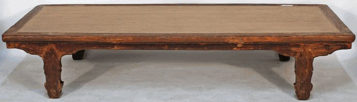Antique Asian Furniture: Wooden Daybed or Opium Bed from Shanxi, China