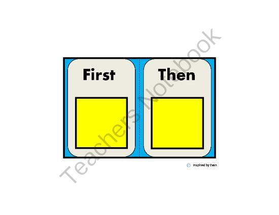 """""""First, Then"""" Communication Card for Autism from Inspired by Evan Autism Resources on TeachersNotebook.com -  (3 pages)  - """"First, Then"""" Communication Card for Autism"""