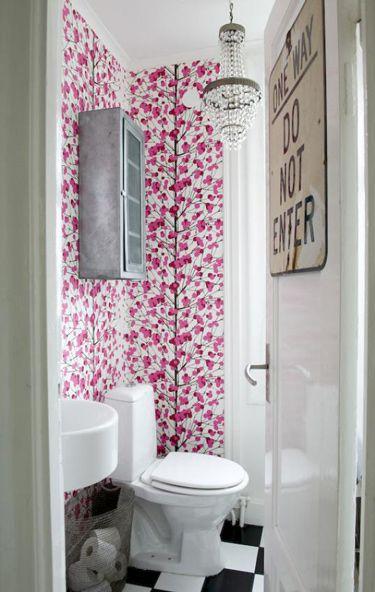 Bathroom #wallpaper #home #decor #interiordesign