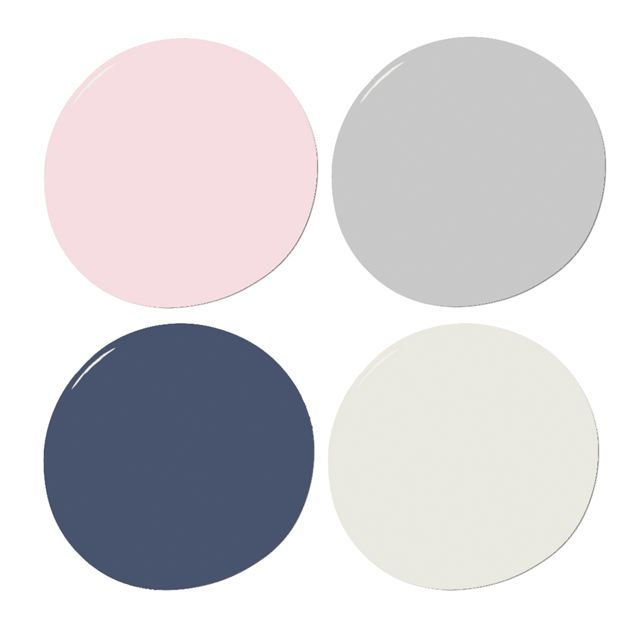 Navy, Pink and Gray Sample Paint Set  - The Project Nursery Shop