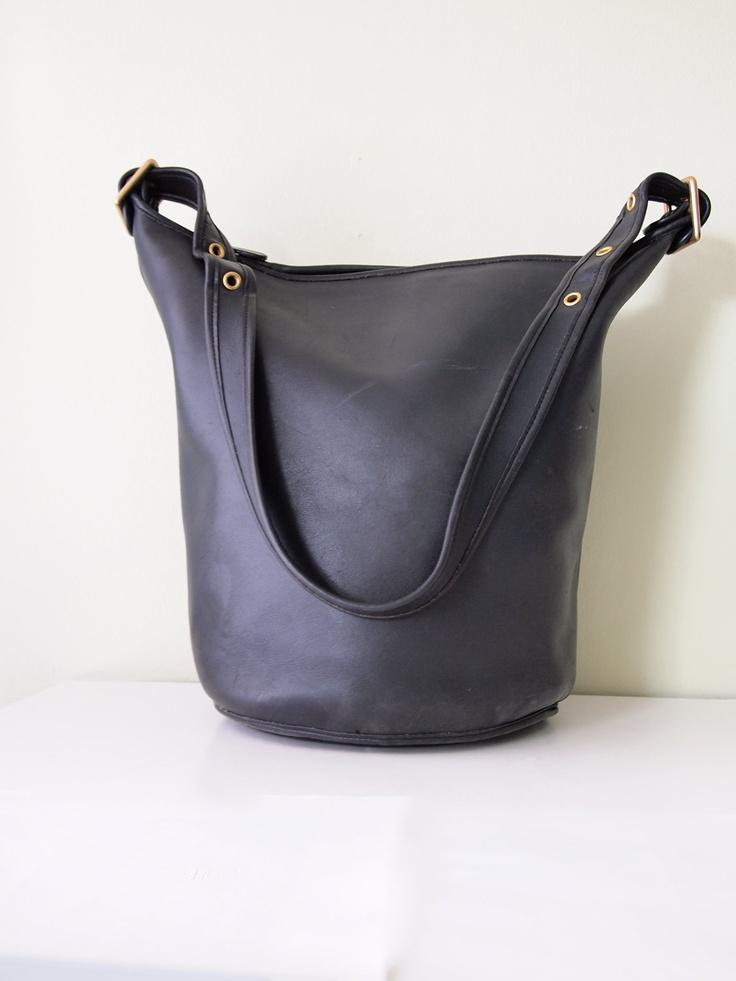 Vintage COACH Duffle Bag in Black By Magnoliavintageco