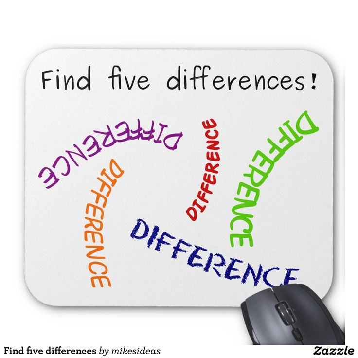Find five differences mouse pad