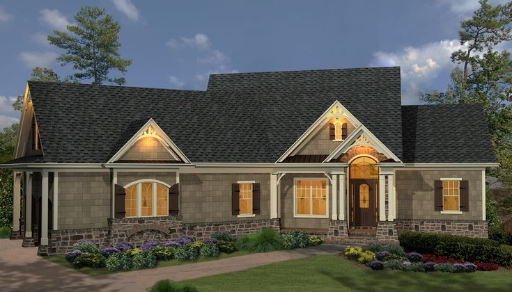Plan 15885ge affordable gable roofed ranch home plan for Affordable 5 bedroom house plans
