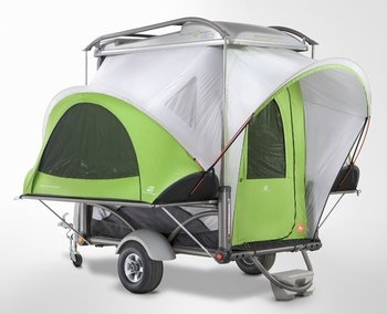 This is the most amazing trailer/tent. Not much good for a family of four, but I want one anyway!