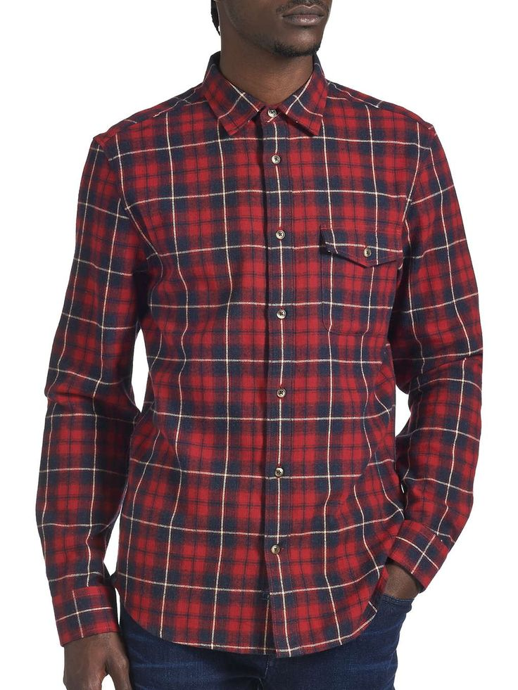 Red Check Shirt - Mens Shirts - Clothing - Burton