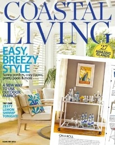 Our Hamptons Bar Cart by Worlds Away in Coastal Living.