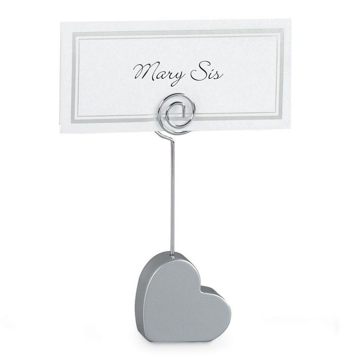 Heart Wedding Place Card Holder exclusivelyweddings