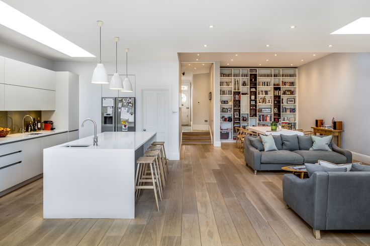Our clients asked us to assist them in transforming this tired late Victorian semi-detached house in Wimbledon into a contemporary family home. At ground floor level an extension to the rear and the side created the space for a new kitchen, downstairs and accessible WC, utility room and a full...