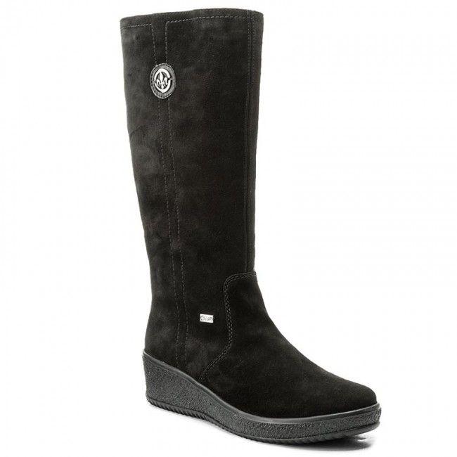b318ce001512e Kozaki RIEKER - Y4470-00 Black 1 | Buty | Black, Shoes i Boots