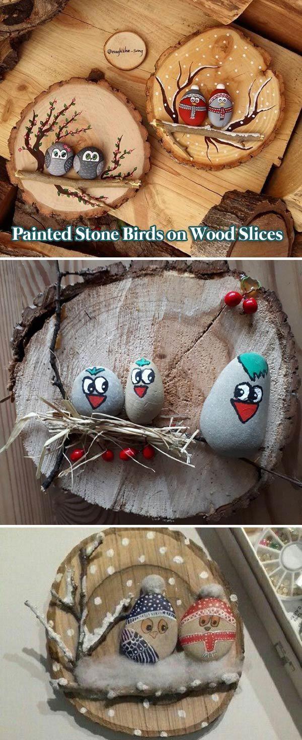 DIY gemalte Steindekorationen, die Sie tun können – #bois #die #DIY #gemalte #k…