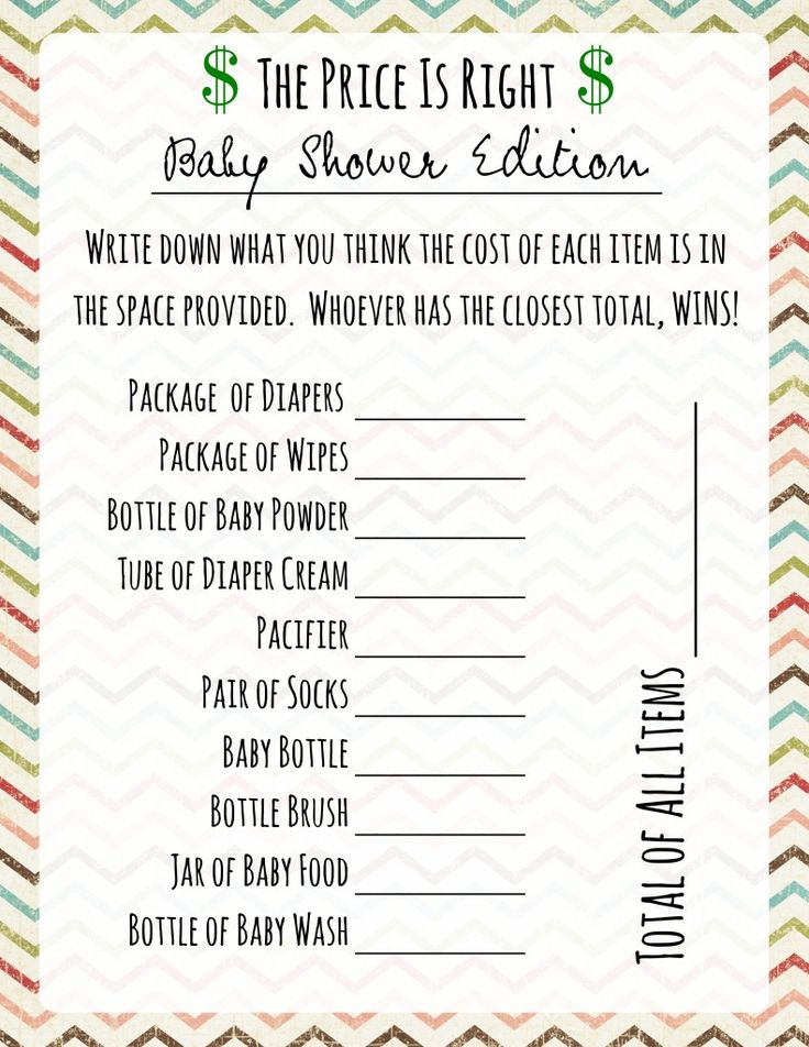 98 best baby cheds shower images on pinterest baby shower parties baby shower games price is right solutioingenieria Gallery