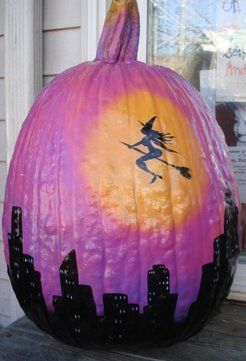 Bewitched Purple Pumpkin! Decoration idea only - website has no details