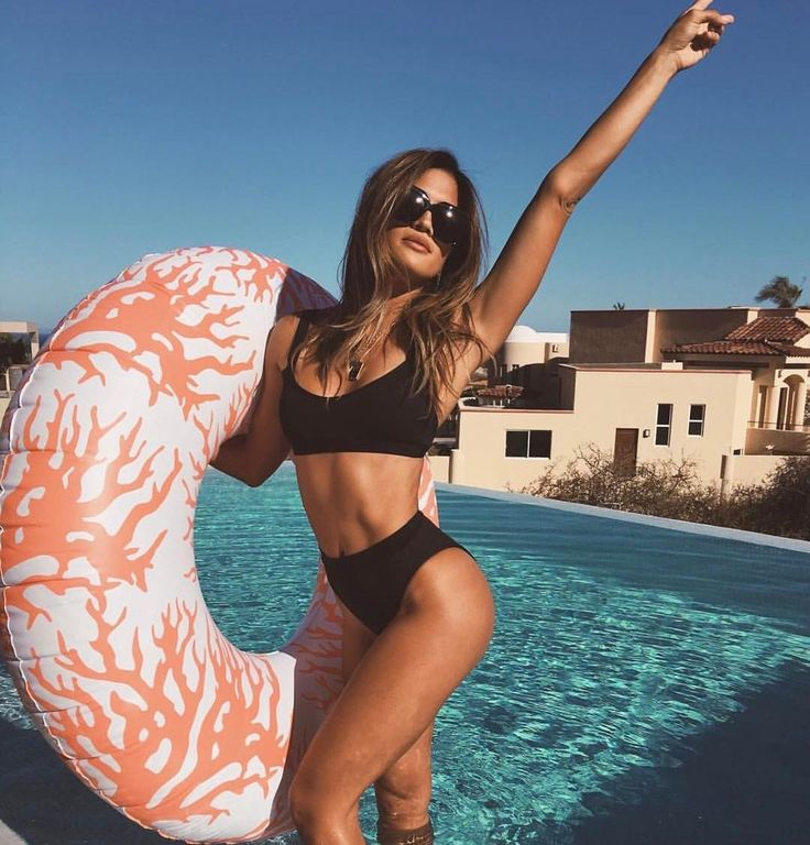 The weekend is calling & we must go... Rocky Barnes wearing L*SPACE Ridin' High Mac Top + Frenchi Bottom #LSPACE #LSpaceswim