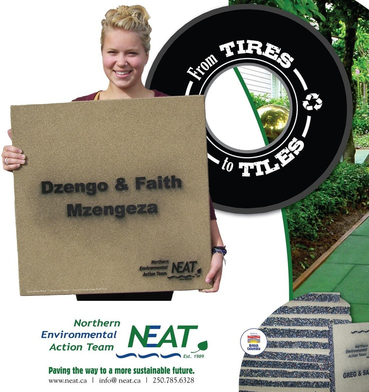 hmmm....that's a familiar face!!!       Order your Engraved Tile Today!  NEAT is providing recycled tire pavers for the new fitness park in Fort St. John.  Have your family or business name engraved on your tile for all to see.