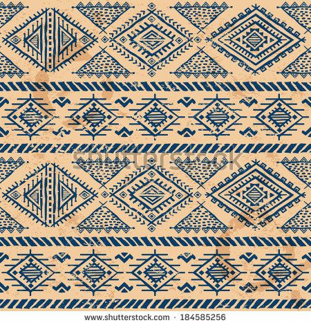 Tribal vintage ethnic seamless pattern for your business - stock vector