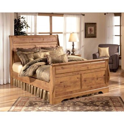 Here Is The Bedframe Again Bittersweet 4 Piece Sleigh Bedroom Set In Pine Grain By