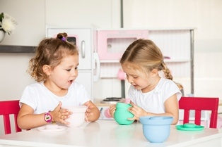 AdoraBOWLS - Flexible Fun! Ideal for toddler snacks. www.weanmeister.com.au