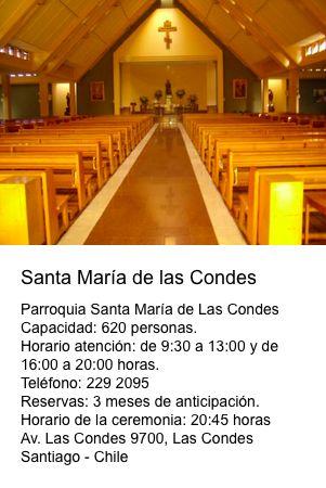 Iglesia Santa María de las Condes  Av. Las Condes 9700  Las Condes - Santiago