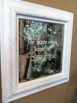 Mirror with quote