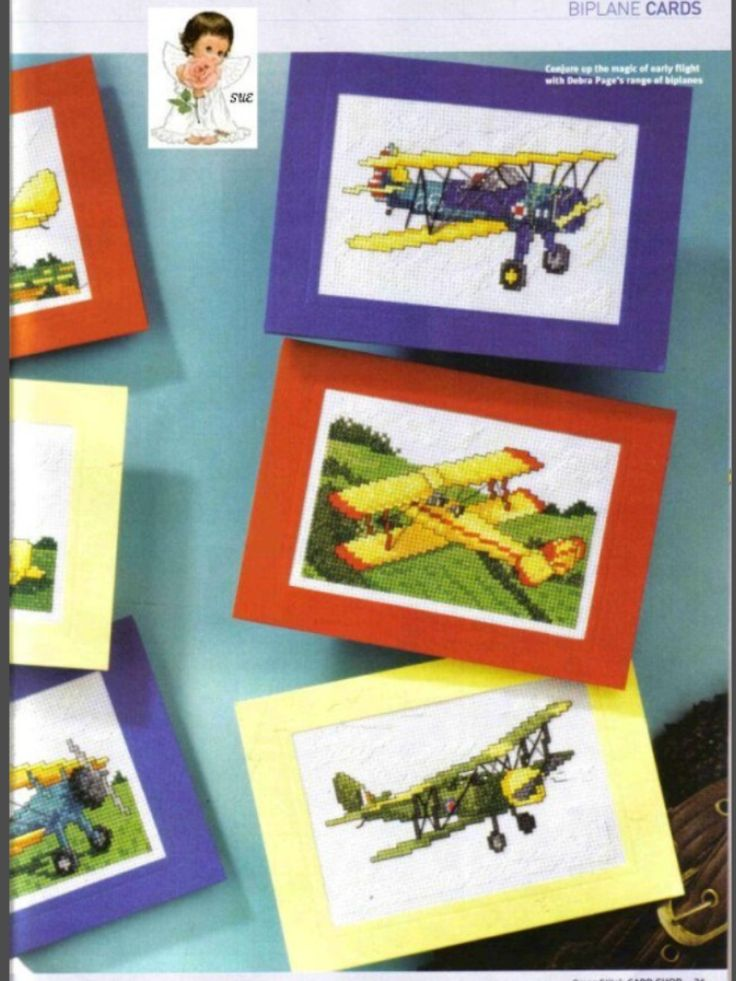 Flying High 2/2 Cross Stitch Card Shop Issue 41 March/April 2005 Saved