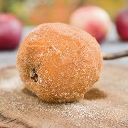 apples fire roasted, skinned & rolled in cinnamon sugar, mm will have to try this one!