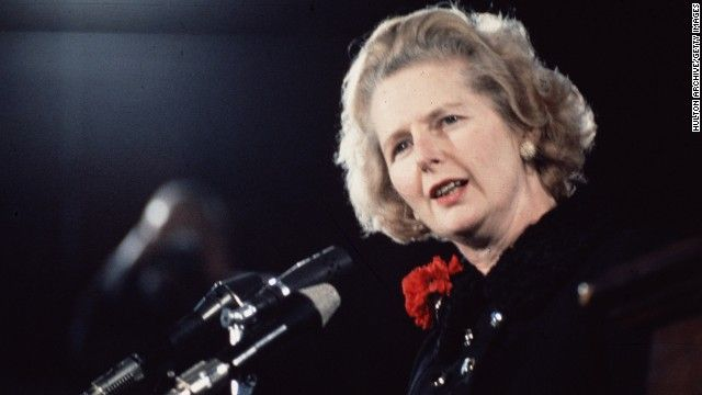 Margaret Tatcher,  Former British Prime Minister Margaret Thatcher, a towering figure in postwar British and world politics and the only woman to become British prime minister, has died at the age of 87.