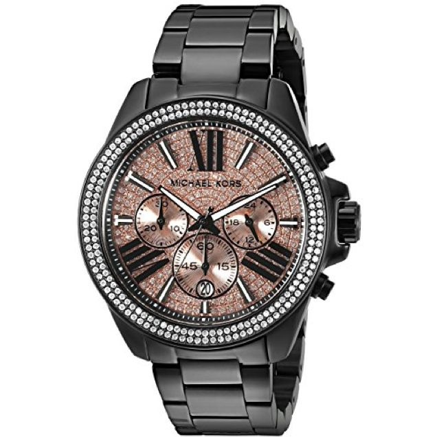 Michael Kors Ever...   http://wristtakerwatches.com/products/michael-kors-everest-chronograph-rose-dial-black-ion-plated-ladies-watch-mk5879?utm_campaign=social_autopilot&utm_source=pin&utm_medium=pin