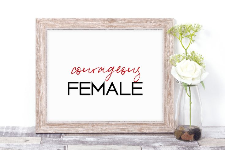 A personal favorite from my Etsy shop https://www.etsy.com/ca/listing/576292848/galentines-day-courageous-female
