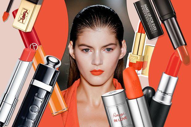 Trend labbra con rossetto arancione: tinte vitaminiche per la PE 2014