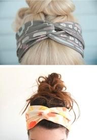 Head Bands. Cute Way To Wear A Head Scraf.