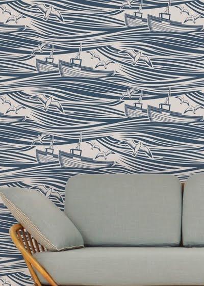 Mini Moderns Wallpaper via Print and Pattern