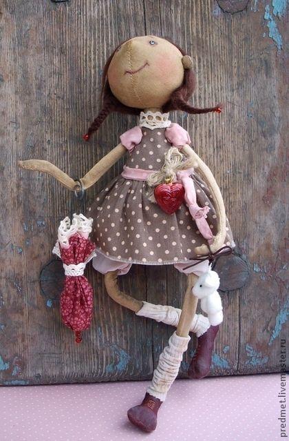 Collectible handmade dolls.  Fair Masters - handmade seems rain begins ....  Handmade.
