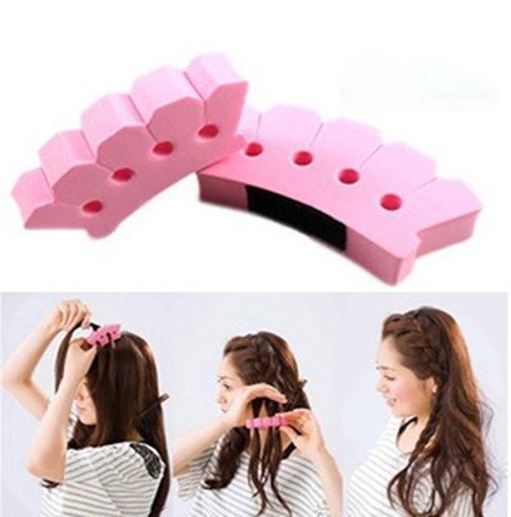 1 Pc DIY penteado esponja cabelo Braider torção Styling titular ferramenta clipe de cabeleireiro pequeno moda alishoppbrasil